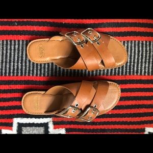 Franco Sarto comfy and cute leather sandals!
